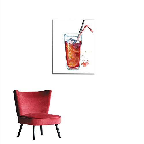 longbuyer Wall Sticker Decals Sangria Watercolor Hand Drawn Illustration Isolated on White Background Mural 20