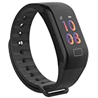 Drums F1 + sports,smart and fitness tracker health watch band (Black)