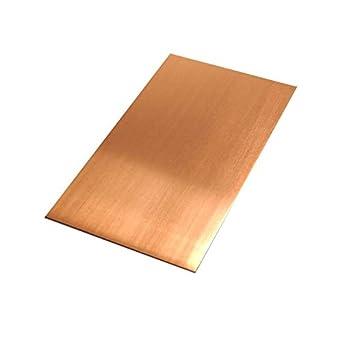 1//8 Hd 6 Length 16 Oz 0.021 Thickness 4 Width RMP 110 Copper Sheet