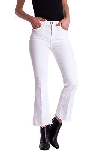 Meltin'pot Normale Orli Jeans gb004 Per G2928 Modello Vita Sfrangiati Vestibilità Bootcut Alta Snow Noemi White Donna Con rrqOz