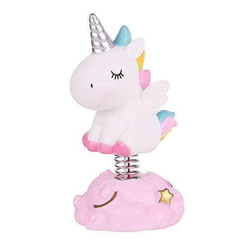 - Unicorn cake decoration kids birthday wedding party decorations handmade resin desk top ornament cartoon unicorn toys night light kids bedroom decorative (Pink)