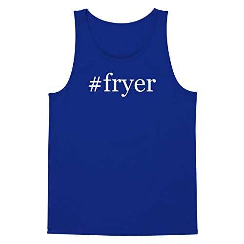 The Town Butler #Fryer - A Soft & Comfortable Hashtag Men's Tank Top, Blue, X-Large