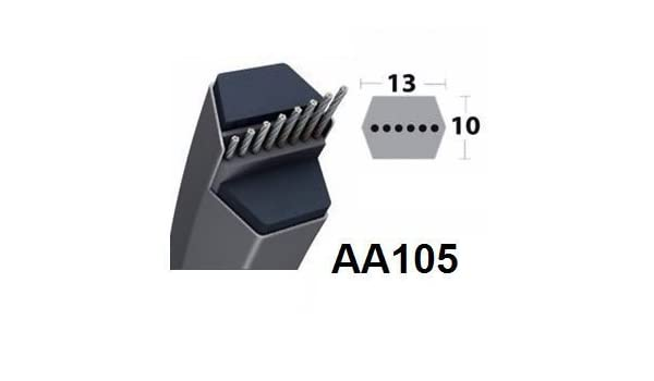 Correa de Transmisión Hexagonal de Cortacésped AA105: Amazon.es ...