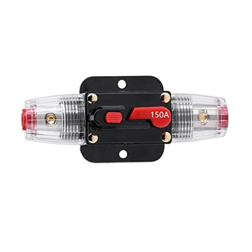 (STETION Car Audio 150 Amp Resettable Fuse Circuit Breaker Car Protect for Audio System Fuse 12-24V DC for Car Audio Amps Overload Protection Fuse (150A))