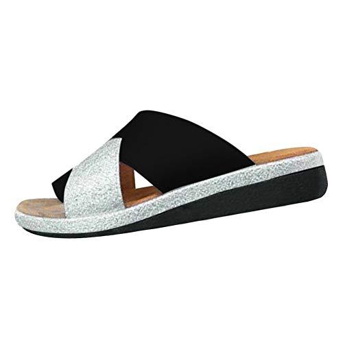 New Women Comfy Platform Sandal Shoes Comfortable Ladies Sandal Shoes Summer Beach Travel Shoes Fashion Sandals Shoes Black