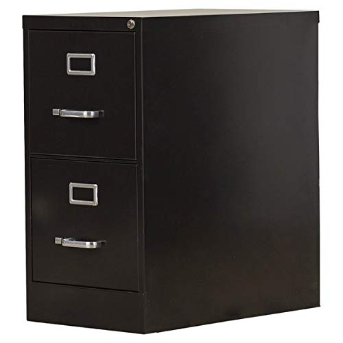 (Steel Lateral Filing Cabinet with Lock - 2 Drawer Commercial Letter Size File Cabinet - Black)