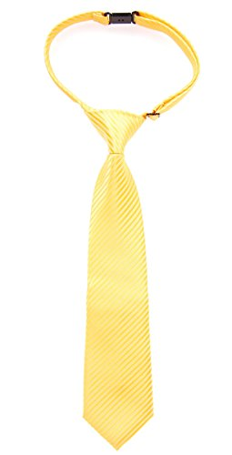 (Retreez Woven Pre-tied Boy's Tie with Stripe Textured - Bright Yellow - 4-7)