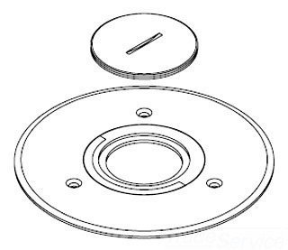 Wiremold Legrand Walker 896CK-1 Brass Cover Plate Ratchet-Pro 881 Communications or Power