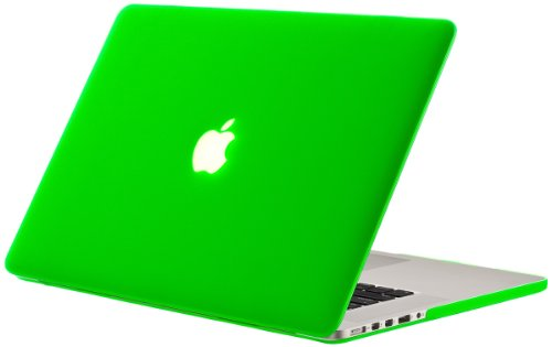 Kuzy Rubberized Hard Case for Older MacBook Pro 15.4 with Retina Display A1398 15-Inch Plastic Shell Cover - GREEN