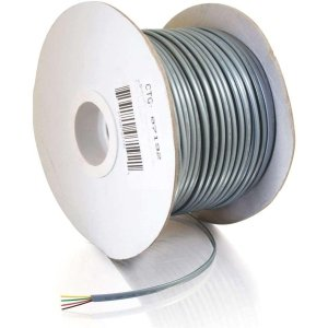 Silver Satin Flat Cable (C2G/Cables to Go 07192 28AWG 4-Conductor Silver Satin Modular Flat Telephone Cable Reel (500 Feet))