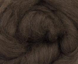 De-Haired Yak Combed Top Roving Dark Brown