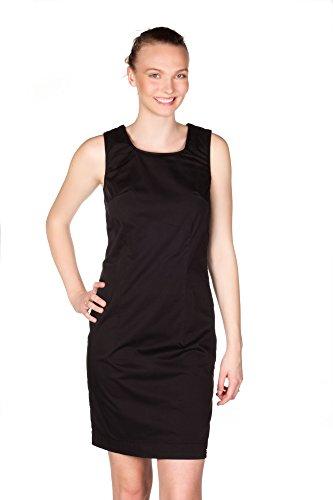 Damen KANOPE Straight Schwarz Einfarbig Kleid Leg ZwgfBxfq