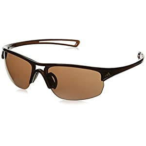 adidas Raylor 2 S Non-Polarized Iridium Oval Sunglasses, Shiny Brown, 60 mm