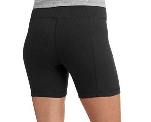 - Danskin Now Womens Bike Shorts (Large, Black)