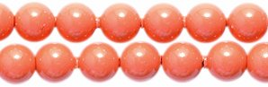 - Swarovski 5810 Crystal Round Pearl Beads, 4mm, Coral, 50-Pack