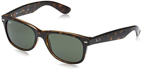 Ray-Ban RB2132 New Wayfarer Sunglasses, Tortoise/Green, 55 mm (Ray Ban Wayfarer Green)