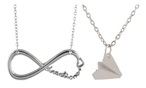 One Direction Twin Pack. Harry Paper Plane and Infinity Necklace Chains (Necklaces One Direction compare prices)