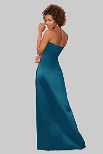 entero damas de tirantes de noche honor Gorgeous Teal SEXYHER de EDJ1581 formal de cuerpo las vestido Encuadre sin OIxBFz