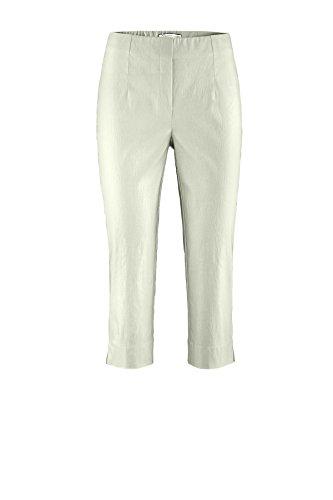 Stehmann - Pantalon - Uni - Femme Blanc Blanc Bleu