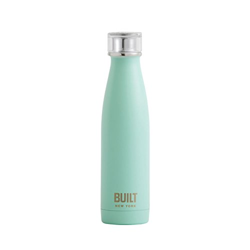 Built NY Double Wall Stainless Steel Perfect Seal Water Bottle, 17-Ounce, Mint
