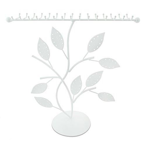 VENKON - Schmuckbaum Design Schmuckständer für Ringe Halsketten Ohrringe Armbänder Aufbewahrung & Präsentation - weiß - 30 x 11 x 30 cm