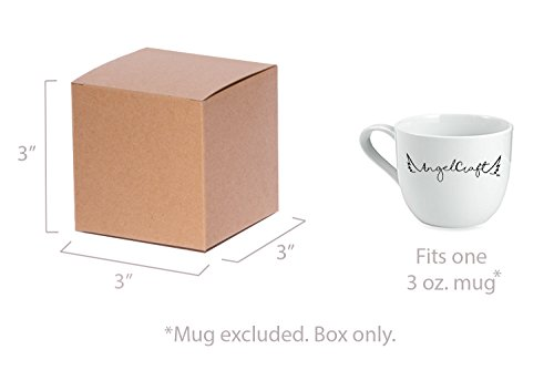 ANGELCRAFT Brown Kraft Gift Box 3x3x3 inch Cupcake Box, Wedding Party Favor, Bakery Box, Holiday Gift Box, Party Boxes 50-Pack by AngelCraft (Image #1)