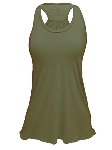 Epic MMA Gear Flowy Tank Top (L, Army Green) (Underwear Tank Top)