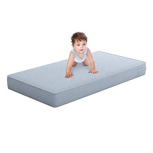 Discover Bargain Safety 1st Heavenly Dreams Blue Crib & Toddler Bed Mattress for Baby & Toddler, Wat...