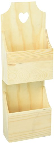 Darice Wood Mail Box Unfinished Assorted 5.75