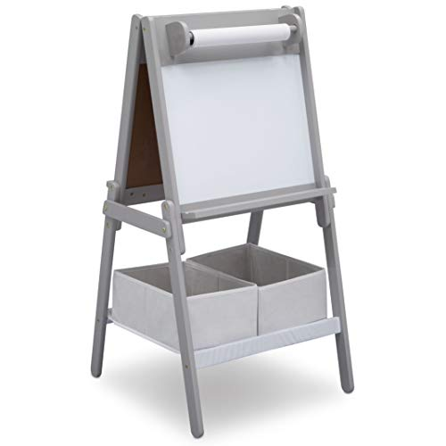 Delta Children MySize Double-Sided Storage Easel, (Childrens Roll Top Desk)