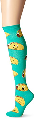 k-bell-womens-single-pack-fun-novelty-knee-high-socks-happy-tacos-9-11