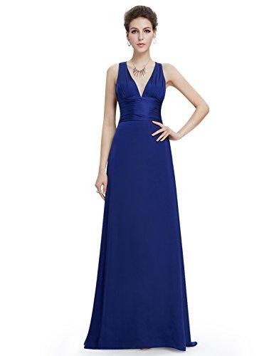 Empire Pretty Longue Femme Robe Bleu Saphir Soire de Ever SfqRCf