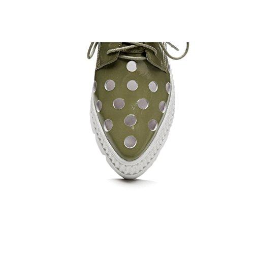 KJJDE Donna Suola Green L0612 WSXY Cava Piattaforma Spessa Sandals Vernice Traspirante Summer wFfFEavrxq