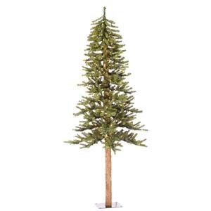 Vickerman Pre-Lit Natural Alpine Tree with 150 Clear Mini Lights, 5-Feet, Green