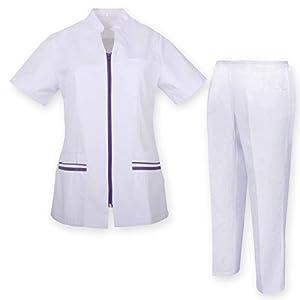 MISEMIYA Cojuntos Uniformes Sanitarios Camisa Y Pantalón Traje médico para Mujer 4
