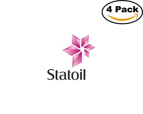 Gas Oil Company Statoil Logo 4 Stickers 4X4 Inches Car Bumper Window Sticker Decal