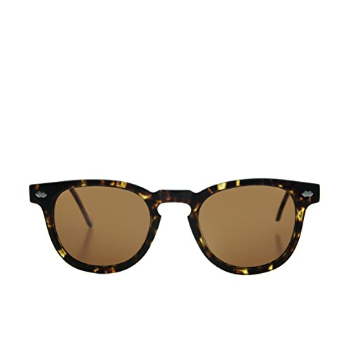 Tortoiseshell James Dean Style Horn Rim Sunglasses with BrownLens - - Sunglasses Benson