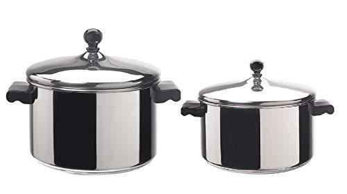 Farberware Classic Stainless Steel 6-Quart Covered Stockpot & 4-Quart Stock Pot Classic Stainless Steel