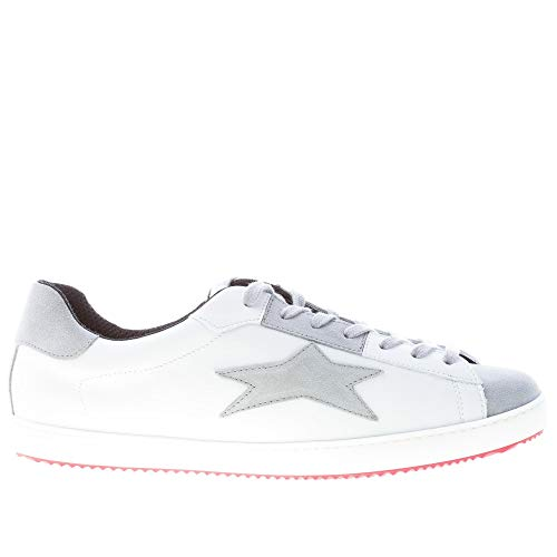 Sneaker Ishikawa In Uomo Più Bianco Camoscio Bassa Grigio Pelle Aqqfx5r
