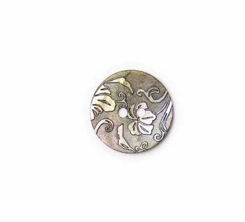 Crendon BF/8324 Mother Of Pearl Coloured Agoya Shell Button 2 Holes 20mm 20pk -