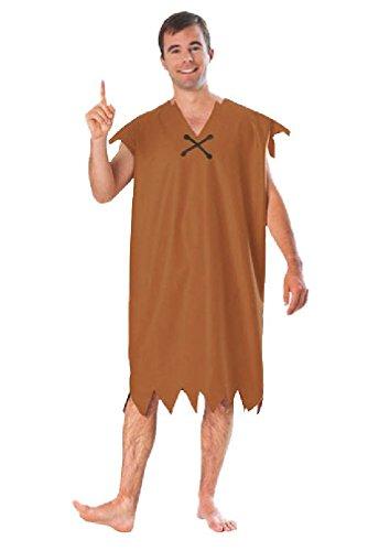 [8eighteen The Flintstones Classic Barney Rubble Adult Halloween Costume] (Barney Costume For Baby)