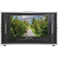 Delvcam DELV-4KSDI15 4K UHD HDMI 3G-SDI Quad View LED 6RU Rack Mountable Broadcast Monitor in Case - 15 inch