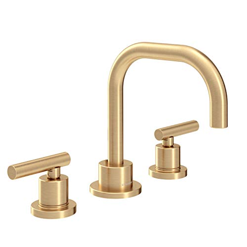 Symmons SLW-3512-BBZ-1.0 Dia Widespread 2-Handle Bathroom Faucet with Drain Assembly in Brushed Bronze (1.0 GPM) (Bathroom Sink Faucets In Bronze)