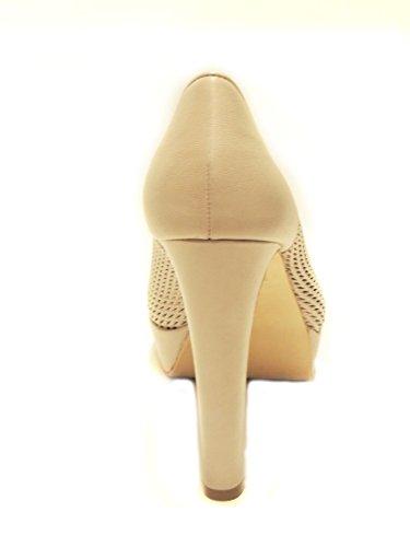Bruno Premi décolleté donna scarpa con tacco open toe effetto intrecciato F3704X