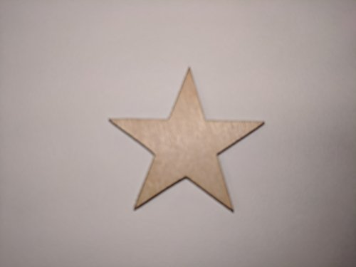 100-1.5 inch Mini Wood Stars - Laser Cut, Flag Making 1 1/2 Wooden Stars- DIY Craft Supplies Flag Making, Rustic Decor, Wood Confetti, Patriotic by Banks CNC