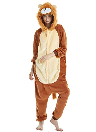 - Unisex Adult Pajamas Christmas Costume Snorlax One Piece Pajamas Stitch Onesies Cosplay Lion XL
