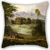 Throw Pillow Covers Of Oil Painting Robert Scott Duncanson - Chapultpec Castle 16 X 16 Inches / 40 By 40 Cm,best Fit For Boy Friend,son,sofa,car Seat,drawing Room,bar 2 Sides