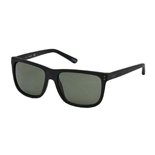 Gant GA7081 Lunettes de soleil Unisexe 02R (matte black / green polarized)