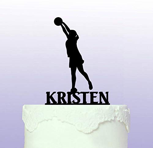 Personalised Netball Cake Topper by Tamengi