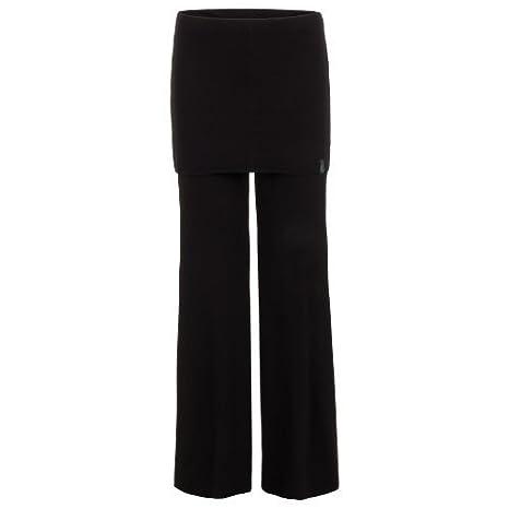 Ancho Yoga Pantalones Mujer con Falda Negra, Bailarina ...